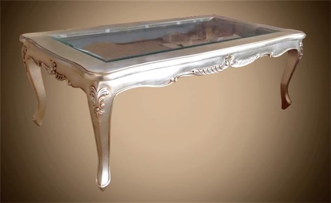 שולחן סלון מוזהב  - Treemium - חלומות בעץ מלא