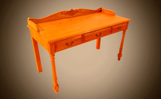 שולחן כתיבה 3 מגירות  - Treemium - חלומות בעץ מלא
