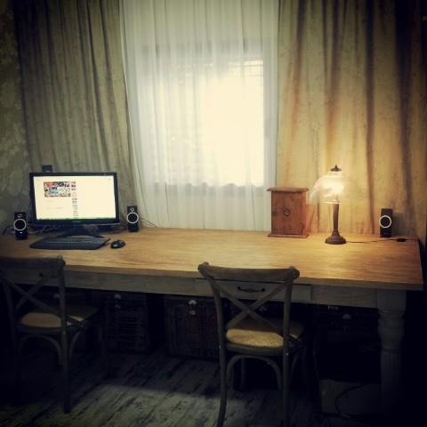 שולחן כתיבה מלבני ארוך - Treemium - חלומות בעץ מלא