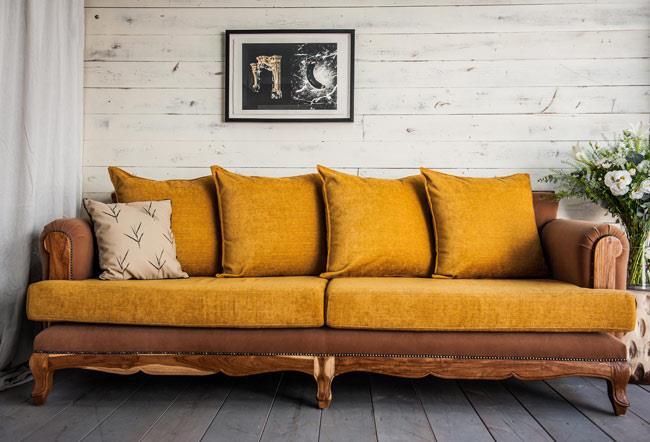 ספה מעץ טיק - Treemium - חלומות בעץ מלא