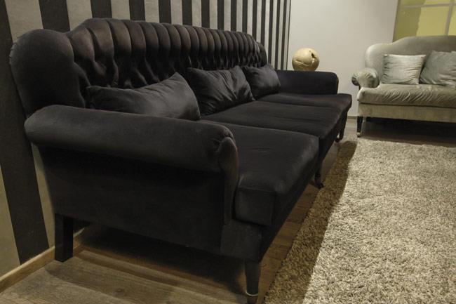 ספה שחורה שלושה מושבים - Treemium - חלומות בעץ מלא