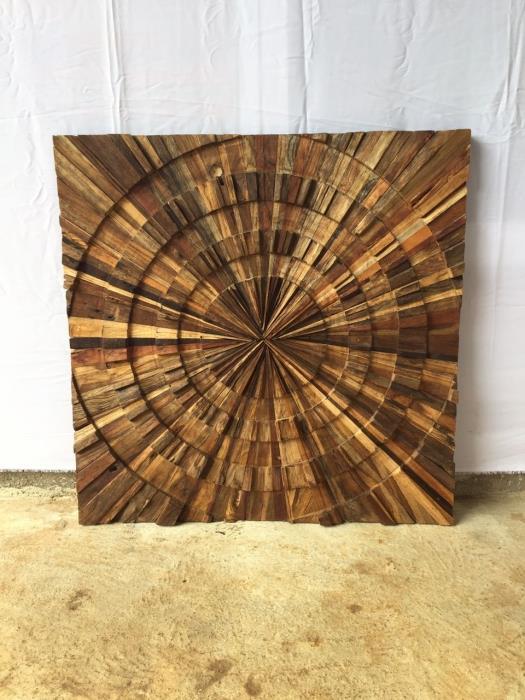 תמונת קיר מעץ טיק ממוחזר - Treemium - חלומות בעץ מלא