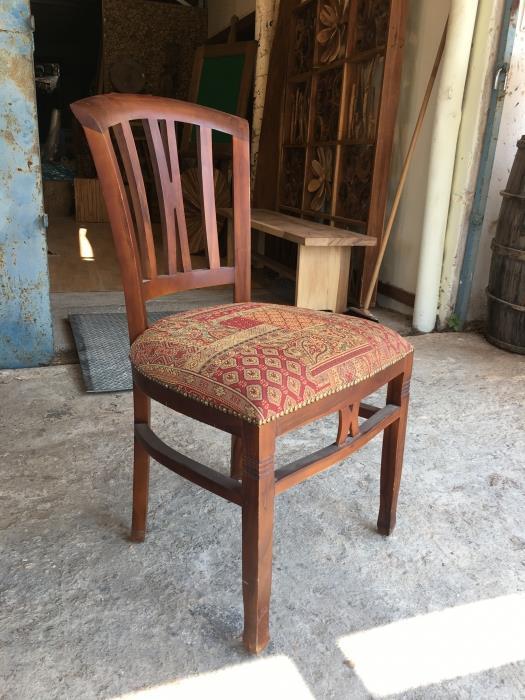 כסא עץ מלא 1027 - Treemium - חלומות בעץ מלא