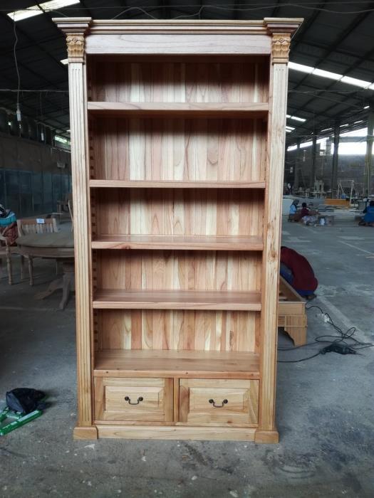 ספריה מעץ אלון 2152 - Treemium - חלומות בעץ מלא