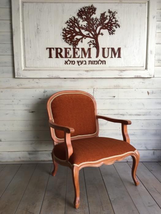 כורסא עץ מלא דגם 1991 - Treemium - חלומות בעץ מלא