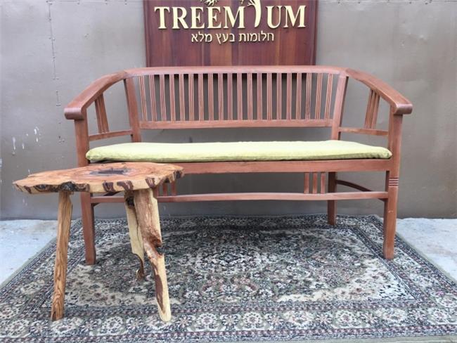 ספסל עץ טיק  - Treemium - חלומות בעץ מלא