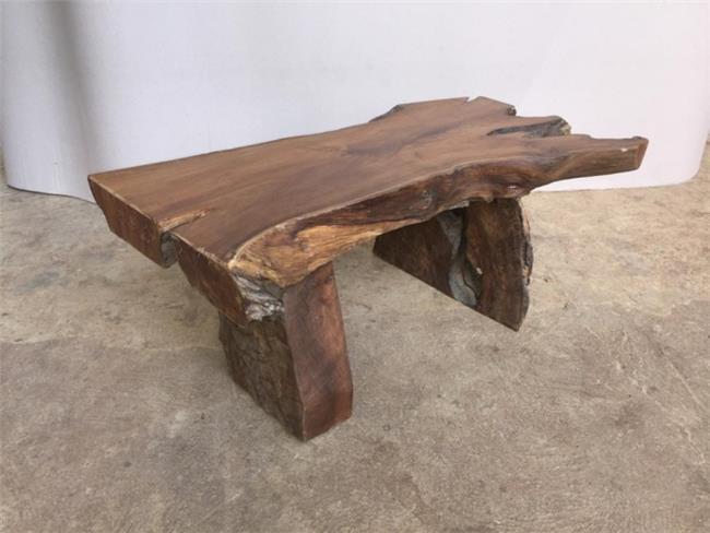 ספסל מעץ טיק ייחודי גושני - Treemium - חלומות בעץ מלא