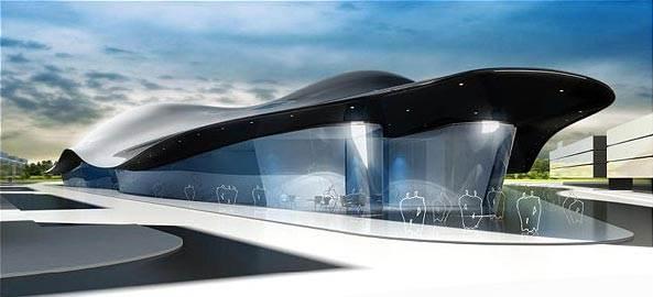 מבט מהצד על מרכז הקונגרסים והקונצרטים שתכנן קפליצקי בסמוך לפראג<br/>(צילום: האתר הרשמי)