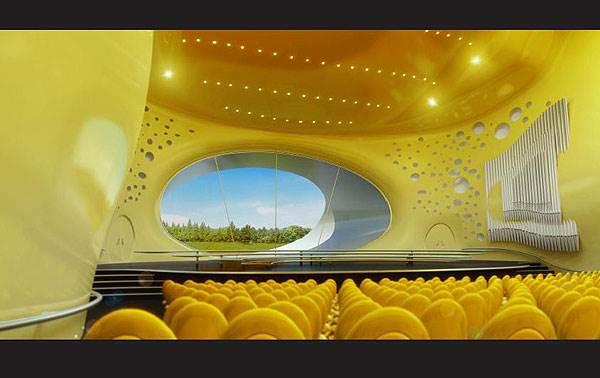 החלל הפנימי באולם הקונצרטים הסמוך לפראג<br/>(צילום: האתר הרשמי)