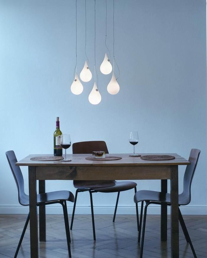 חמישיית מנורות תליה בצורת טיפה מדגם DROP מבית מותג התאורה NEXT במחיר מבצע,
