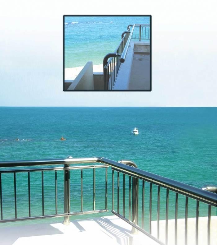 מעקב במרפסת יכול להוסיף טאץ ייחודי, אלטק מעקות (צילום: יח