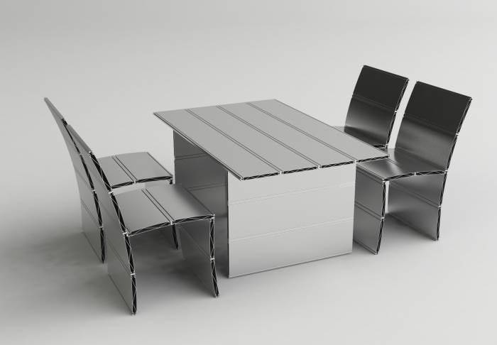 המעצב הישראלי עזרי טרזי בעיצוב מיוחד עבור התערוכה הנודדת של המעצבים הישראליים שמושקת ב-CASA09, (צילום: יח