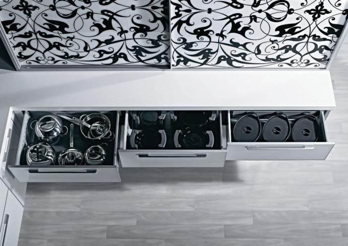מגירות במטבח מודרני, עיצוב מבית
