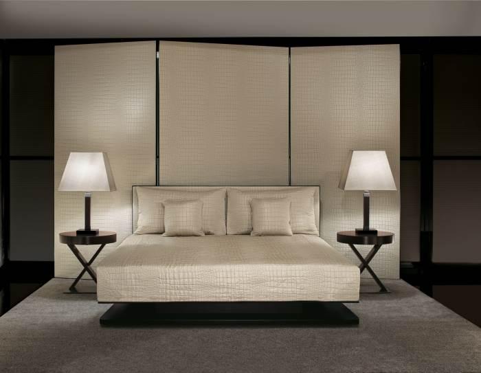 חדר שינה בעיצוב קלאסי אלגנטי, בעיצוב ARMANI CASA, (צילום: יח