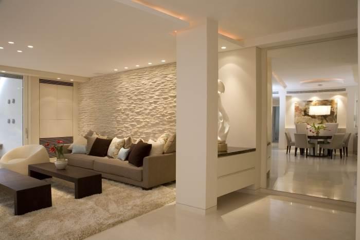 חדר מגורים בתכנונם של אדריכלים קובי גל וורד אלנבוגן-מצליח, (צילום: גל אדריכלים)