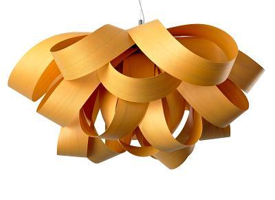 גוף תאורה תלוי צהוב מדגם Agatha מהקולקציה הירוקה של חברת