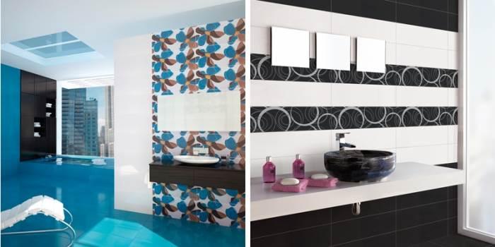 מגוון הצבעים והטקסטורות התרחב. חדרי אמבטיה המחופים באריחי קרמיקה צבעוניים(צילום:יח