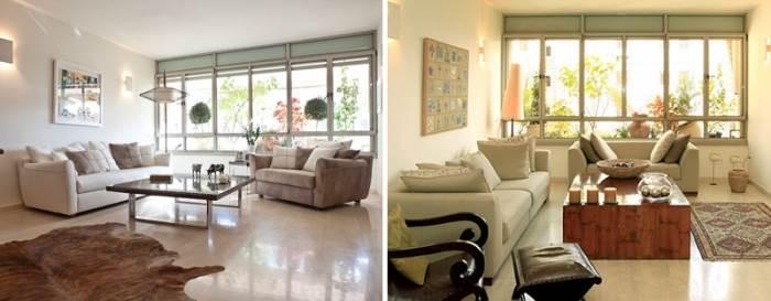 צבעוניות נעימה וזורמת, הרמוניה בין פריטים שונים, נסיון לייצר מודרניות חמימה. הבית כבר היה מעוצב, אבל טעמם של בני הבית השתנה (צילום: שירן כרמל)