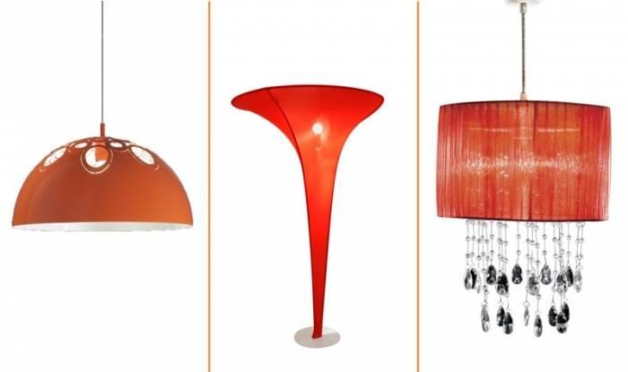 תאורה כתומה באמת מאירה את הבית! מנורת תלייה של יאיר דורם, גוף תאורה של דורי קמחי ומנורת תלייה של מחסני תאורה (צילומים: יח