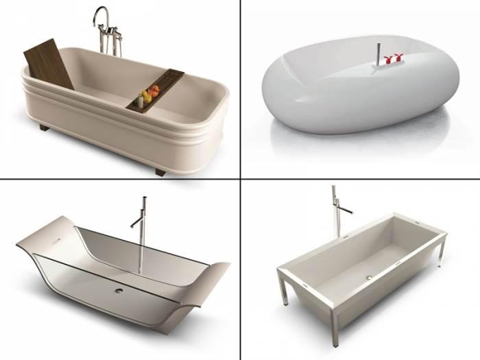 מגוון חומרי הגלם, העיצובים, הגדלים והחידושים הוא עצום, רק תבחרו! מגוון אמבטיות מעוצבות של HEZIBANK (צילום: יח