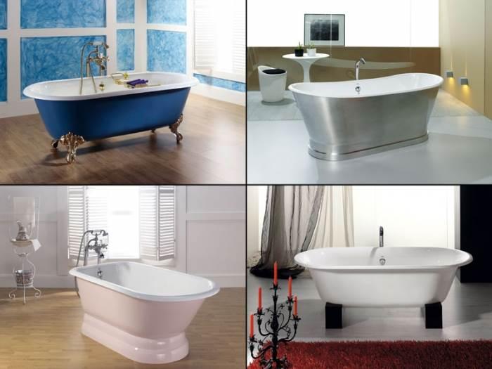 חשוב להכין מראש נקודות למים וניקוז בהתאמה לסוג האמבטיה. אמבטיות פרי סטנדינג של HEZIBANK (צילום: יח