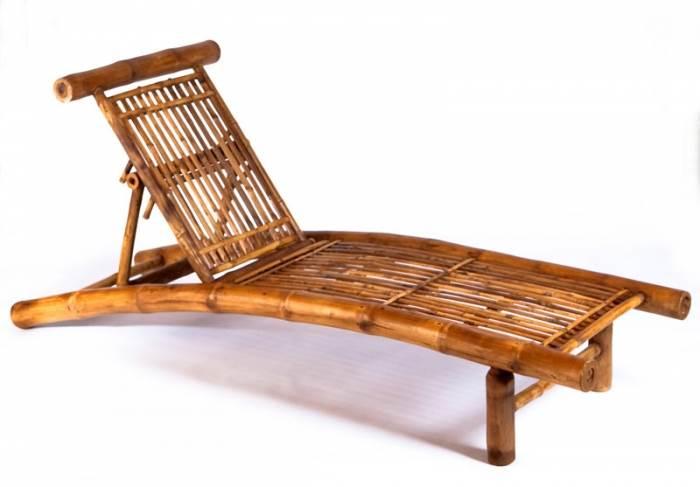מיטת שיזוף מתקפלת העשויה מבמבוק של רשת קנה