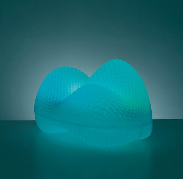 גוף תאורה כחול של