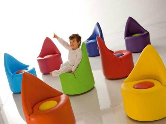 כיסאות מעוצבים לילדים של חברת אדרנלינה. צילום: חברת Adrenalina