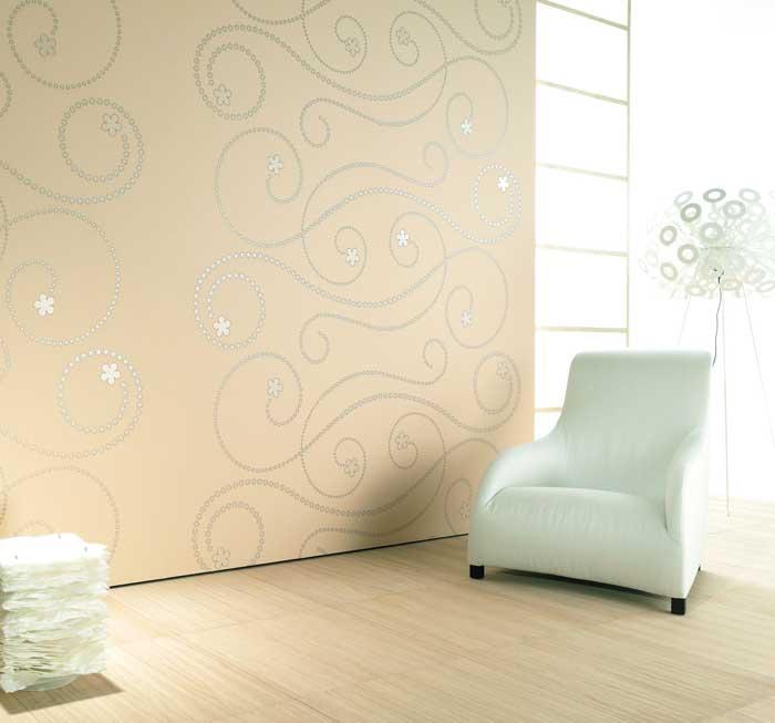 טפט מתוך קולקציה בעיצובו של מעצב העל אולף מוריץ בהנחה- גולדשטיין גלרי טפט