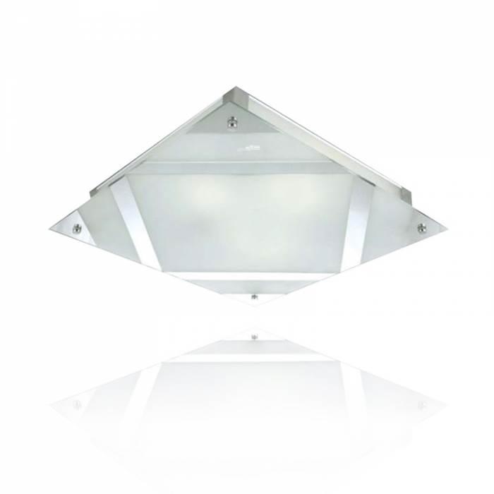 גם גופי תאורה צמודי תקרה יכולים לשלב נורות חסכוניות
