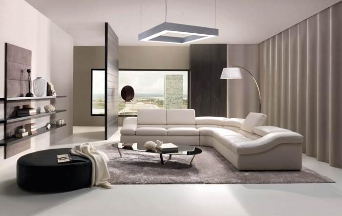 גם חלל הסלון יכול ליהנות מתאורה חסכונית
