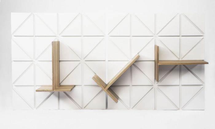משחק מעניין של זוויות: מדפים מודולריים מעוצבים. עיצוב: Johannes Herbertsson & Karl Henrik Rennstam