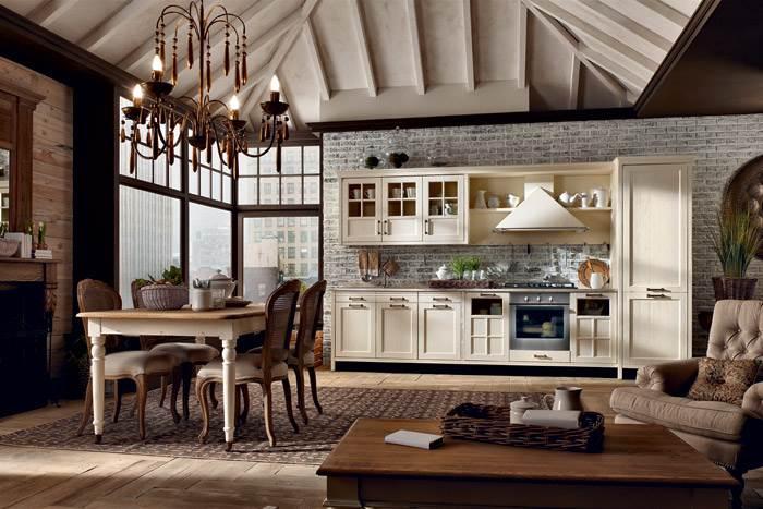 מטבח דגם KREO בסגנון אנגלי חם של חברת המטבחים MARCHI. להשיג בבית פנטהאוז רהיטים