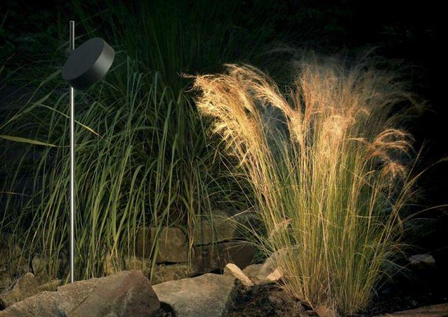הארת הצמחיה מציגה ומעצימה את אדריכלות הנוף: תאורה לגינה מבית יאיר דורם. צילום: יח