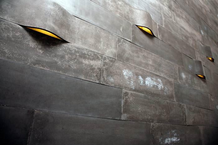 אריחי בטון עם תאורה- WILLOW 80X20 בצבע אפור כהה.
