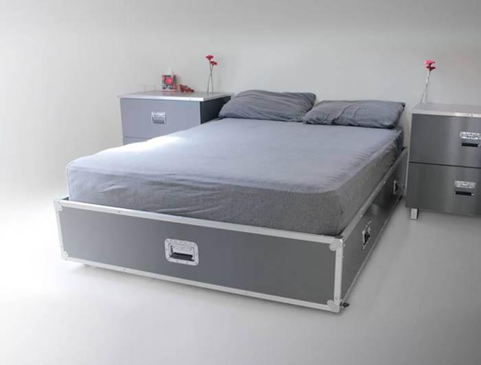 לישון רוקנרול. מיטה זוגית- ניתן להתאים את הקופסאות כמיטת יחיד.