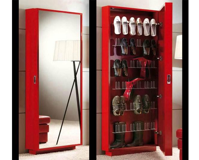 מראה משולבת בארון נעליים של חברת Dupen