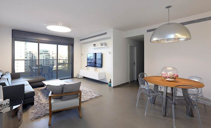 עיצוב חלל מרשים בדירת 6 חדרים בכפר סבא- טלי מאיר פיק