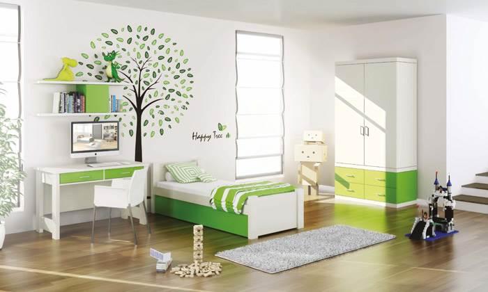 שימוש זהה ברהיטים באותו החדר, אשר באמצעות צבעוניות שונה, מקבל מראה חדש. מעצב החברה של רהיטי דורון, ניצן הורוביץ, טוען שהצבעוניות השולטת בחדרי הילדים השנה בהירה- הצבעים השולטים הם גווני השמנת, הלבן וגווני האפור. באופן כללי, הבסיס הבהיר של רהיטים מהווה פלטפורמה מצוינת לבחירת כל שילוב צבעוני שיהיה הדומיננטי בחדר. כך ניתן בקלות לשנות ולהתאים את אביזרי החדר, כדי לקבל צבעוניות שונה. על ידי שינוי מצעי המיטה, כיסא, שטיח, ווילונות, מנורת השולחן וכדומה ניתן לקבל צבעוניות מתאימה. להשיג ברשת רהיטי דורון.