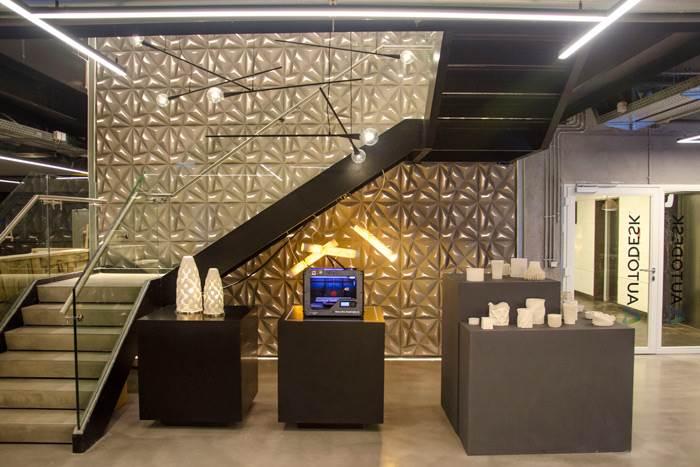 עוד מבט על משרדי חברת אוטודסק ישראל עם גופי התאורה של סטודיו אנדר