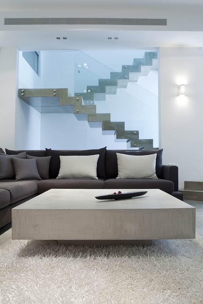 שולחן סלון עשוי בטון ארטן - בטונדה