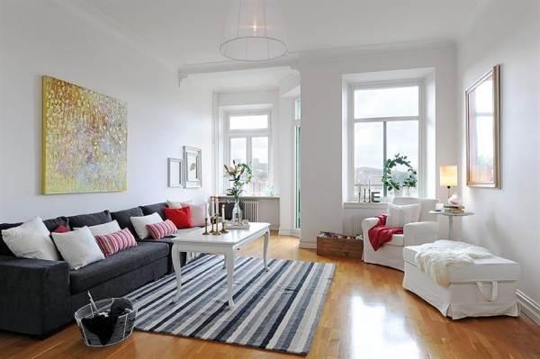 פשטות ומינימליזם: חדר מגורים בסגנון סקנדינבי. מקור: adorable-home.com