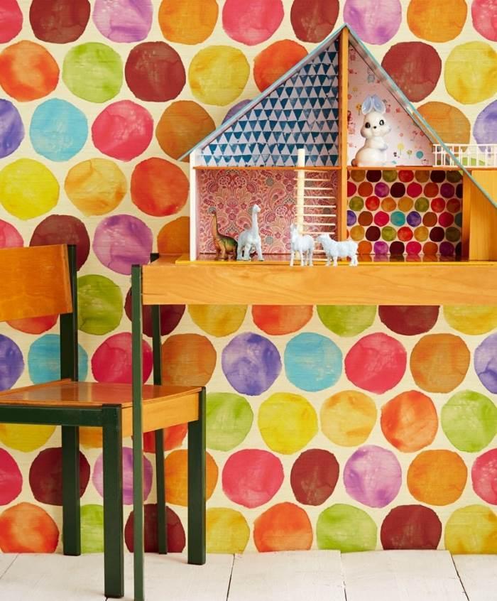 חי וצבעוני: טפט לחדר הילדים. צילום: יח