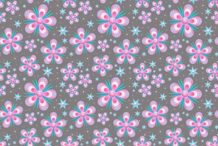 בהדפס הזה, לדוגמה, הפרחים נחתכים למטה ובצדדים. צילום אילוסטרציה
