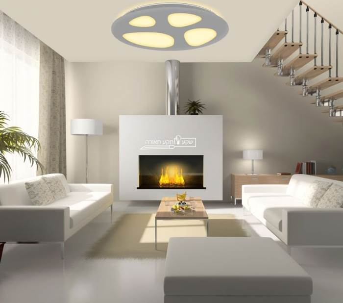 מאירים את החדר בעוצמה: גוף תאורה מרחף דגם סלעים, שקע ותקע
