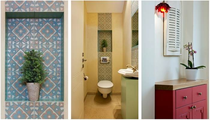 אלמנטים בעיצוב אישי עם שילובי גוונים של בורדו, אדום, ירוק וחום