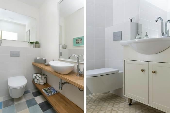 עיצוב בית בצפון תל אביב- מבט אל חדרי האמבט. צילום: שירן כרמל