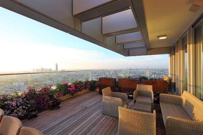 דירה תל אביבית עם נוף אורבאני ולים התיכון | צילום:עוזי פורת