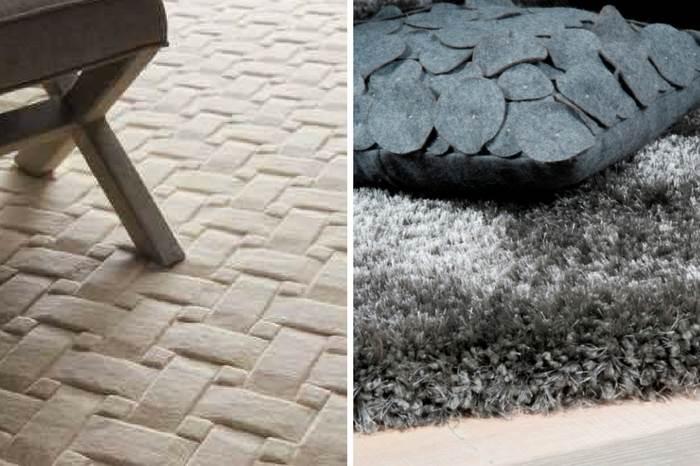 מימין: שטיח שאגי מבית כרמל פלור דיזיין |צילום: יח