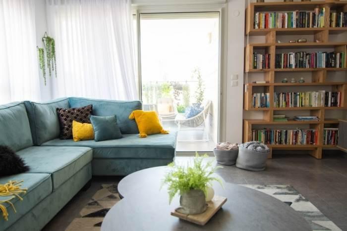 מבט נוסף לסלון<br/>צילום: מיכל רימון